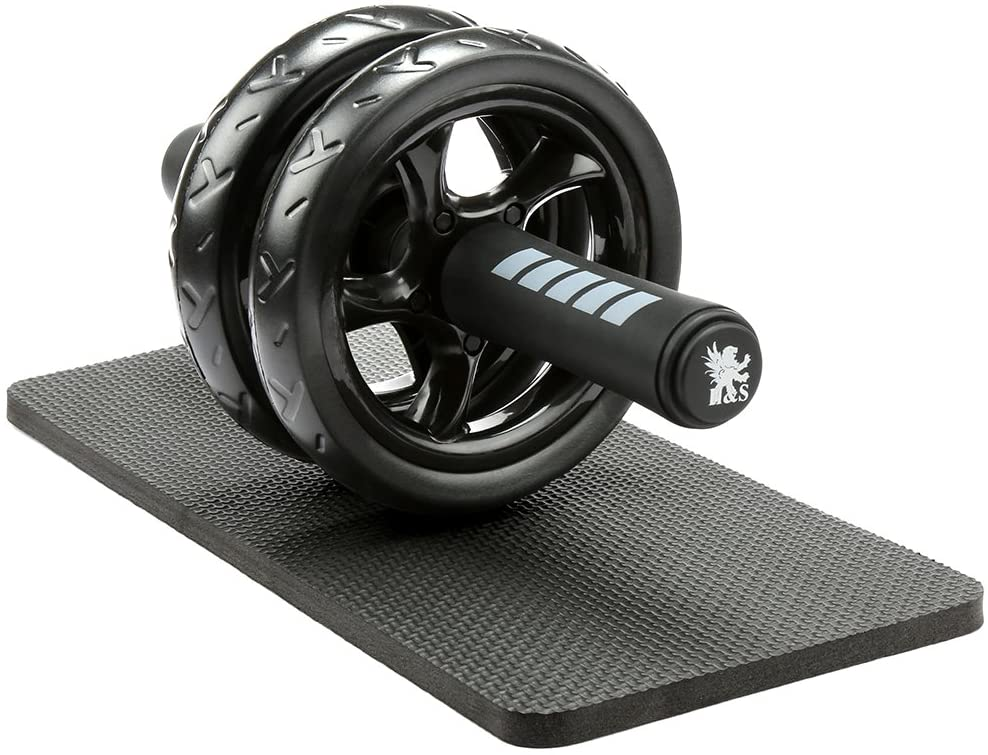 Ab Roller Wheel Knee Pad Mat Abdominal Exercise Fitness Gym  Strength Training